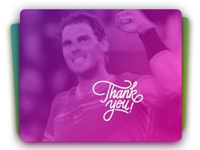 Thank You Rafa thanks card nadal
