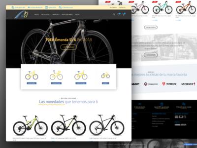 Mbici bikes store ux ui woo wp bike ecommerce interface