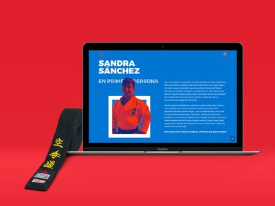 🥋 Sandra-San Website. webdeveloper uidesign userinterface karate interface ux ui webdesign