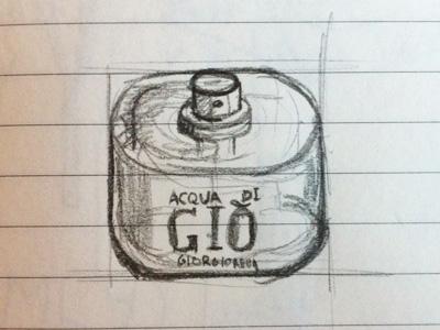 Sketch icon Acqua di Gió, Armani iphone icon armani sketch