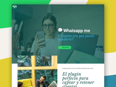 """Whatsapp me"" landind page uidesign interface userexperience webdesign userinterface ui ux whatsappme landing"