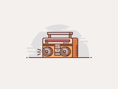 Old Radio by Windy L Pebriani on Dribbble