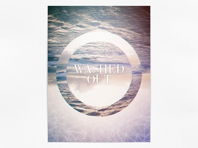 Washed Out Gig Poster