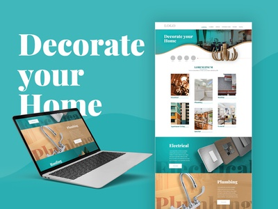 Home Decor Websites Mock