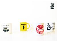 tee and toast mugs.