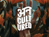 Uncultured branding identity rap hiphop logotype wordmark branding and identity logodesign logo branding
