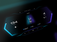 Car dashboard concept ux ui ux uidesign ui sleek gradients concept design dashboard ui dashboard dark mode concept car dashboard car