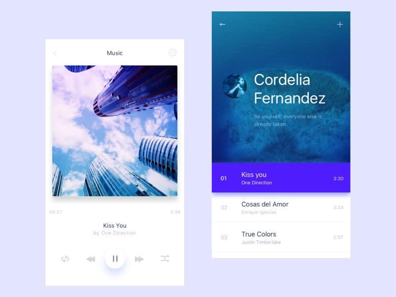 Music App mobile flat ios app music
