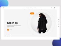 Minimal Website Header & UI Practice