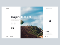Minimal Website Header