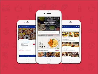 Restaurant app design mobile app blue theme trending find restaurants search food around shot ux ui designing food app restaurant app