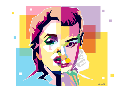 Marilyn and Audrey minimal illustrations colours faces actresses portraits sketch vector illustration illustration inspiration hollywood icons audrey hepburn marilyn monroe