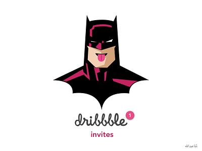 Dribbble Invite batman dribbble invite dribbble illustartion superhero batman illustartion simple illustration fun tongue wink illustartion one invite dribbble shot
