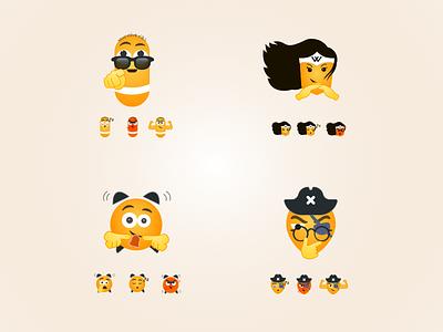 Emojis for medical app expressions medicine emoji yellow emoji moods cartoons illustrations yellow emojis medicine app emojis