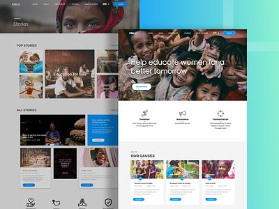 Website for NGO shot non profit educate designing ux ui website design child labour help orphanage ngo website