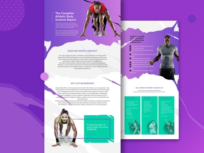One-pager fitness report healthcare fitness uidesign vector designing ux ui one-pager