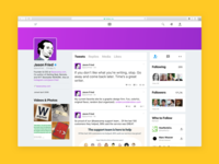 Twitter Profile for the Web
