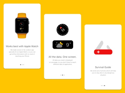 Do Outdoor App Guide apple watch on-boarding ui design compass iphone app ios ui screens onboarding start guide