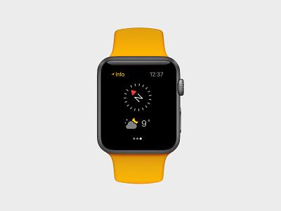 Hiking App for Apple Watch user interface apple watch minimalist orange black backpacking hiking app ui apple