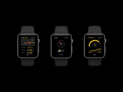 Apple Watch Hiking user interface apple watch ux black ui navigation backpacking hiking
