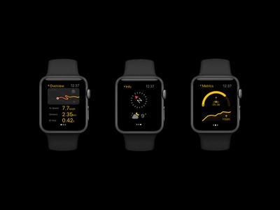 Apple Watch Hiking user interface apple watch ux black ui navigation backpacking hiking