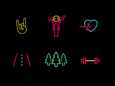 Apple Music Playlists Covers music playlists apple motorcycle racer cafe icons neon