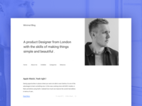 Minimal portfolio website