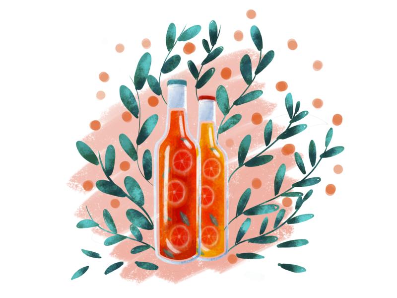 Illustration floral art app botanic floral logo branding illustration design