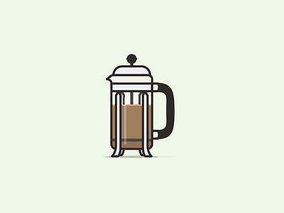 Pressin' illustration coffee