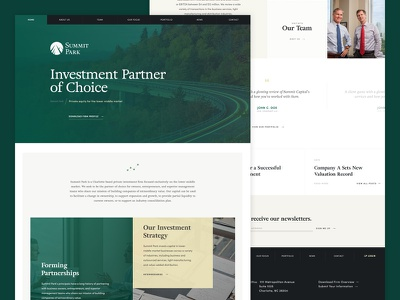 Summit Park ui green grid private equity finance website