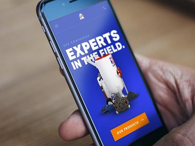 Mobile Mockup blue orange iphone mobile