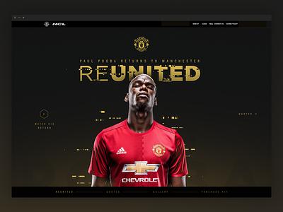 Pogback gold black interactive web manchester united pogba