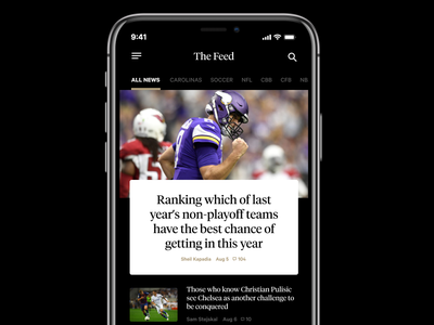 The Athletic Concept figma black ios sports
