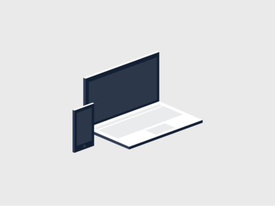 Devices procore illustrations laptop iphone