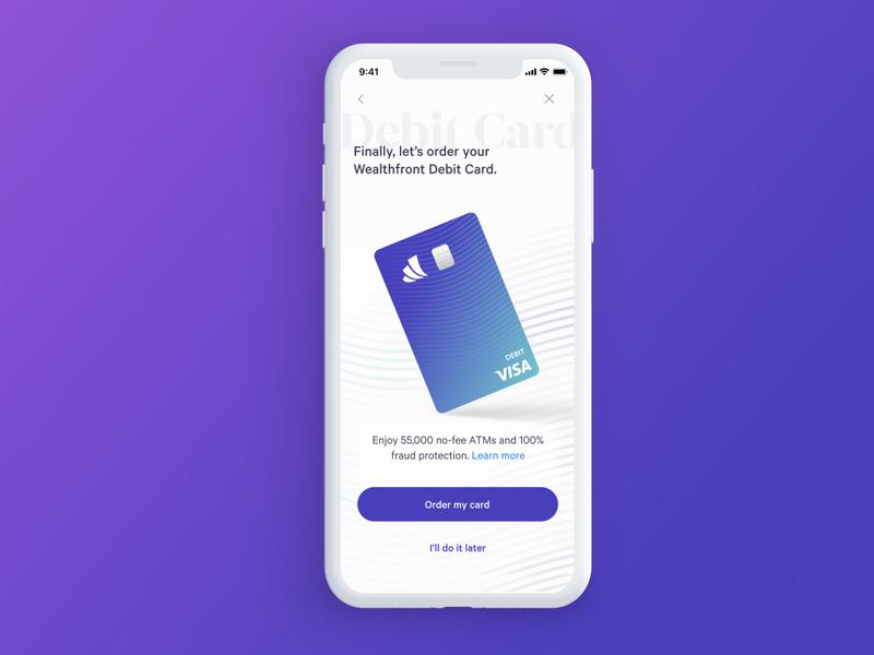 Card Ordering Screen branding uiux app design
