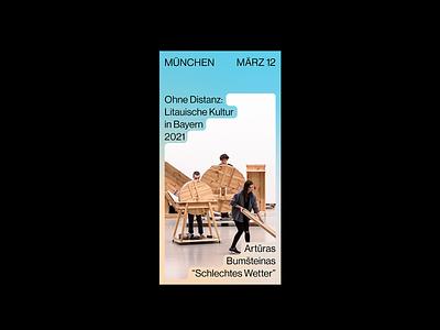 Litauische Kultur in Bayern 2021 logo layout event culture branding system design logotype