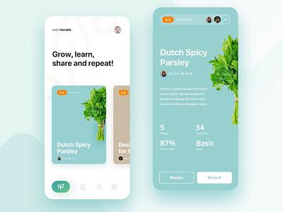 easygrow.io recipe editor machine learning iot hydroponics design interactive ios mobile app animation ux ui