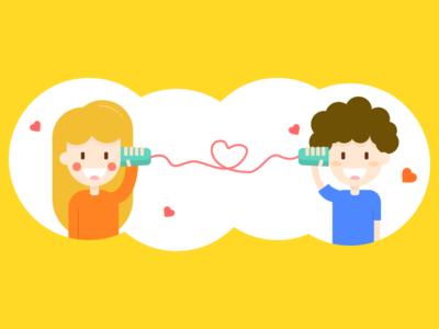 Lovers call illustration