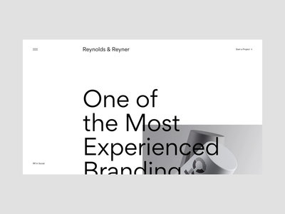 Reynolds and Reyner — Agency Website interaction motion homepage web ux user interface ui website portfolio animation page minimal desktop design creative clean