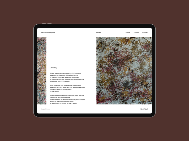 Masaaki Hasegawa — Portfolio Website artwork tablet ipad works web ux user interface ui wesite portfolio photo l page minima desktop design creative clean