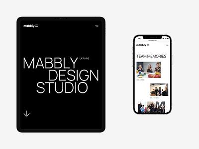Mabbly — Landing Page tablet ux ui white website web trend portfolio minimal layout flat design creative clean black agency 2020 mobile landing page