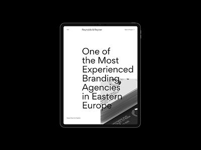 Reynolds and Reyner — Agency Website web design minimal ui photo typography mobile ux
