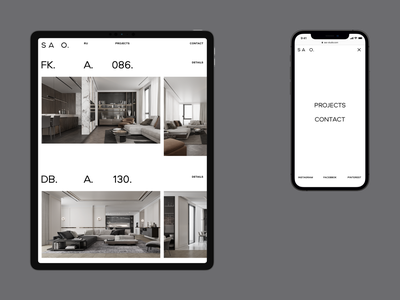 SAO. — Website Design branding web minimal clean grid uiux ux ui