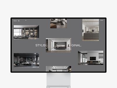 SAO. — Website Design photo typography web design ui ux uiux web grid clean minimal branding
