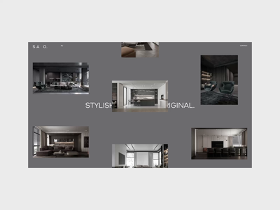 SAO. — Website Design grid logo branding interaction motion graphics ui minimal web design animation ux uiux web