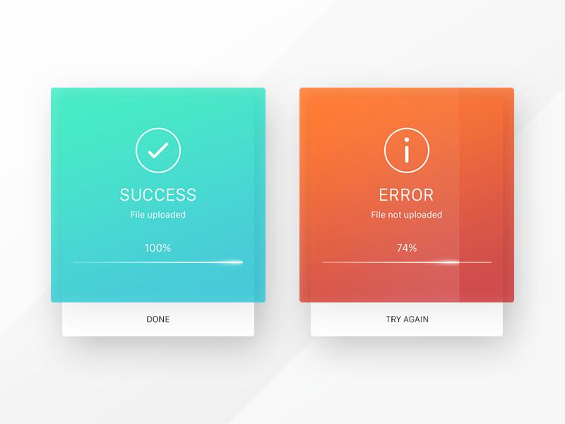 011 Flash Message upload error success message dailyui concept ui interface web app ux