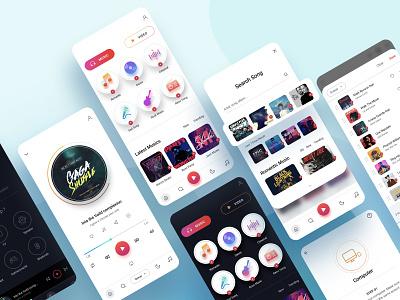 Music app UI clean ux ui figma application design concept design uiux design design isolated modern design music app ui design mobile app