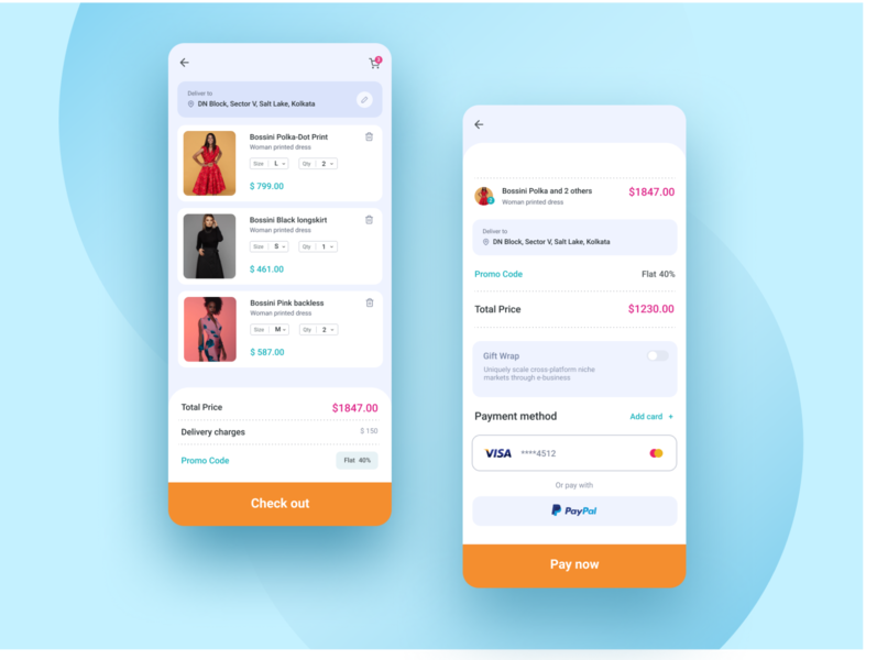 Shopping mobile app_cart page design figma shot app design color clean ui daily 100 challenge user experience uidesign user interface shopping cart ecommerce designer clean design ux ui shop shopping app