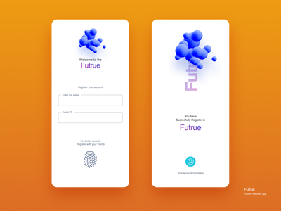 Thumb Register app create account login form thumbnails thumb form vectors daily 100 challenge figma clean creative ui  ux ux ui concept register form