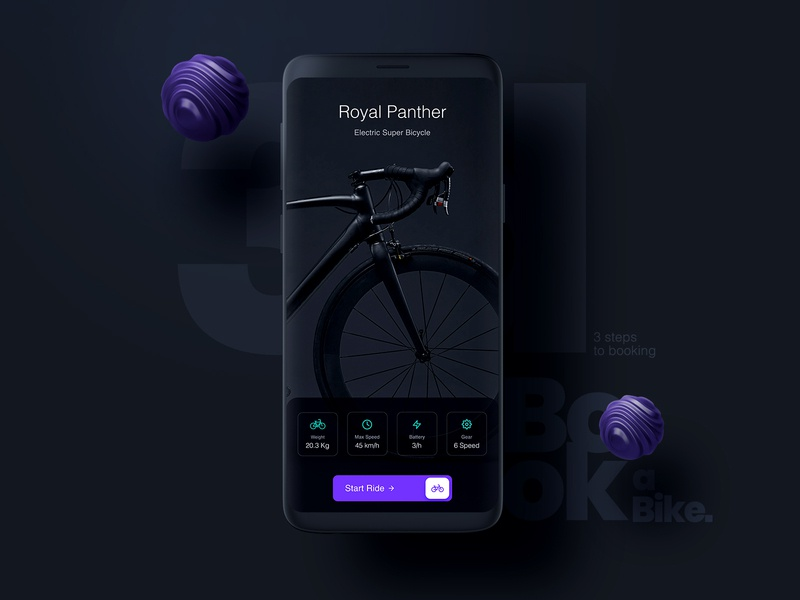 Book A Bike mobile UI figma illustration color creative ui  ux concept clean design interaction 3d art bike booking daily 100 challenge ecommerce bikebooking